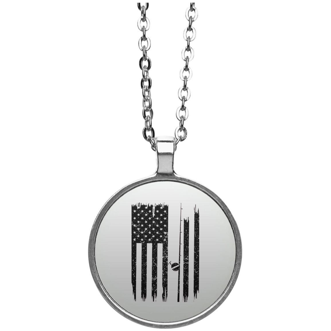 Fishing Flag Circle Necklace