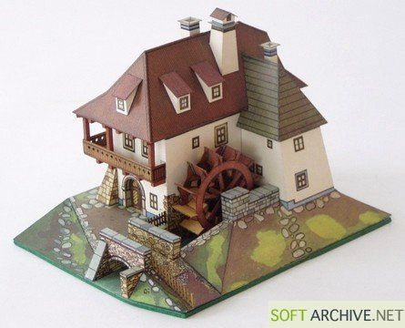 Paper models - Water mill from ABC