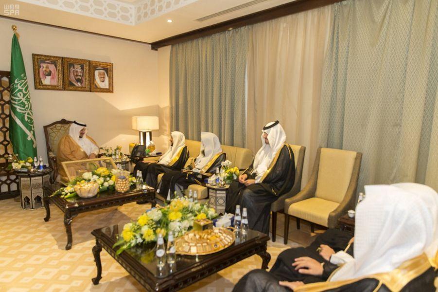 نائب أمير منطقة الجوف يستقبل عددا من القضاة With Images Table Settings Table