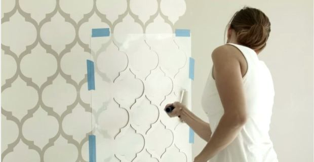 Resultado de imagen para paredes con plantillas