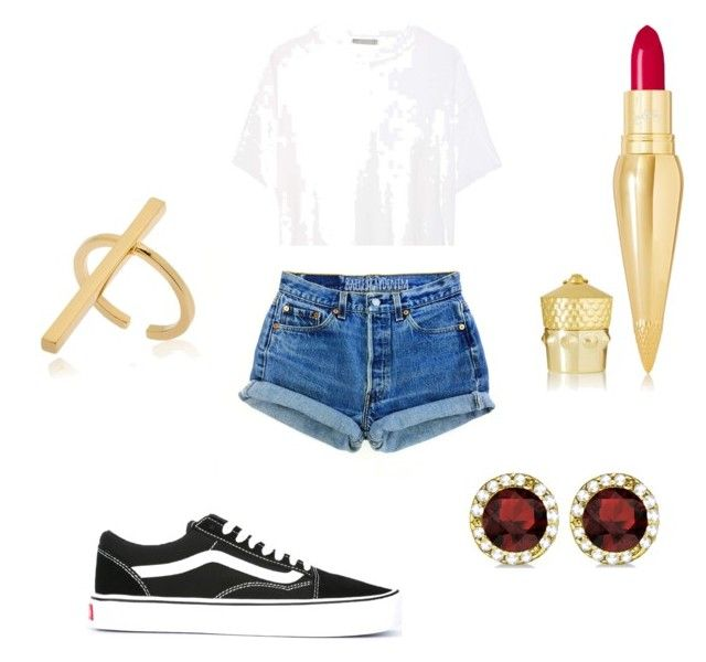 """""""Everyday with an edge"""" by mariicq on Polyvore featuring Vince, Vans, Schield Collection, Christian Louboutin and Allurez"""