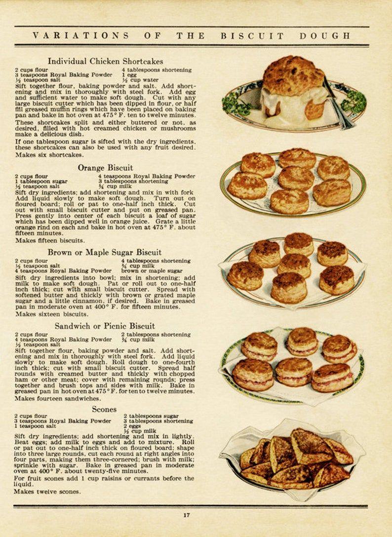 Printable Vintage Cookbook Pages Cookbook Pages Baking Illustrations And Recipes Digital Kitchen Graphics Recipes Junk Journal Kit Vintage Recipes Cookbook Recipes Recipes