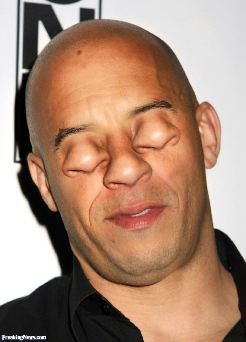 Vin diesel with noses for eyes