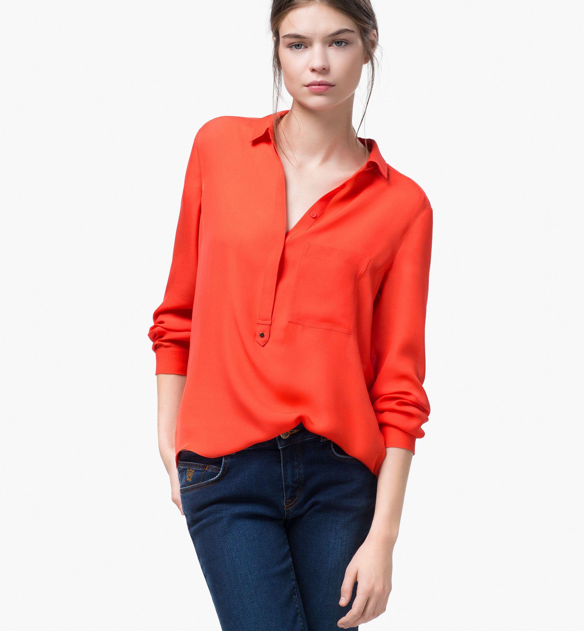 8c69046af2 SILK SHIRT - Shirts & Blouses - WOMEN - Qatar - Massimo Dutti ...