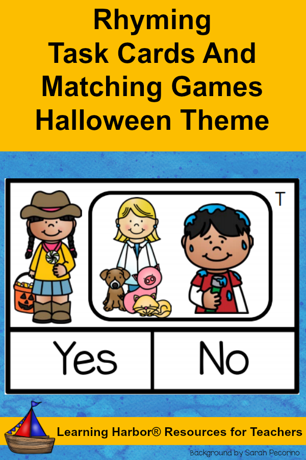 Rhyming Words Hands On Literacy Center and Small Group Pack Friendly ...