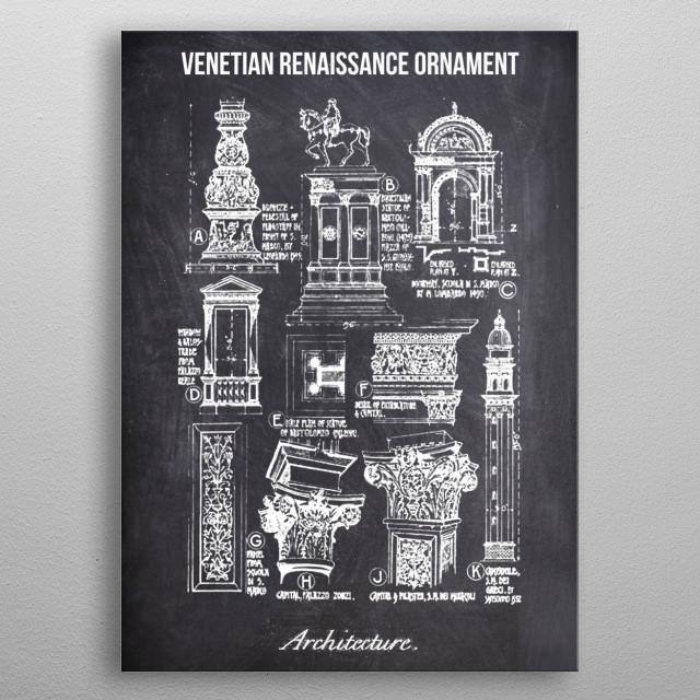 venetian renaissance by FARKI15 DESIGN | metal posters - Displate | Displate thumbnail