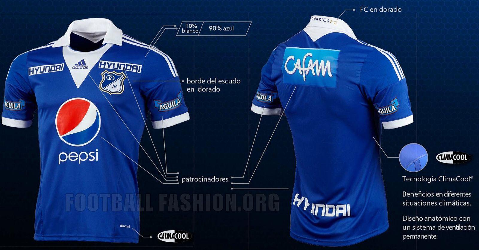 4e489d86dcf Millonarios FC 2013 adidas Home Kit