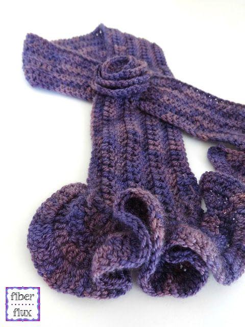 Free Crochet Pattern...Vintage Blossom Keyhole Scarf! | Free crochet ...