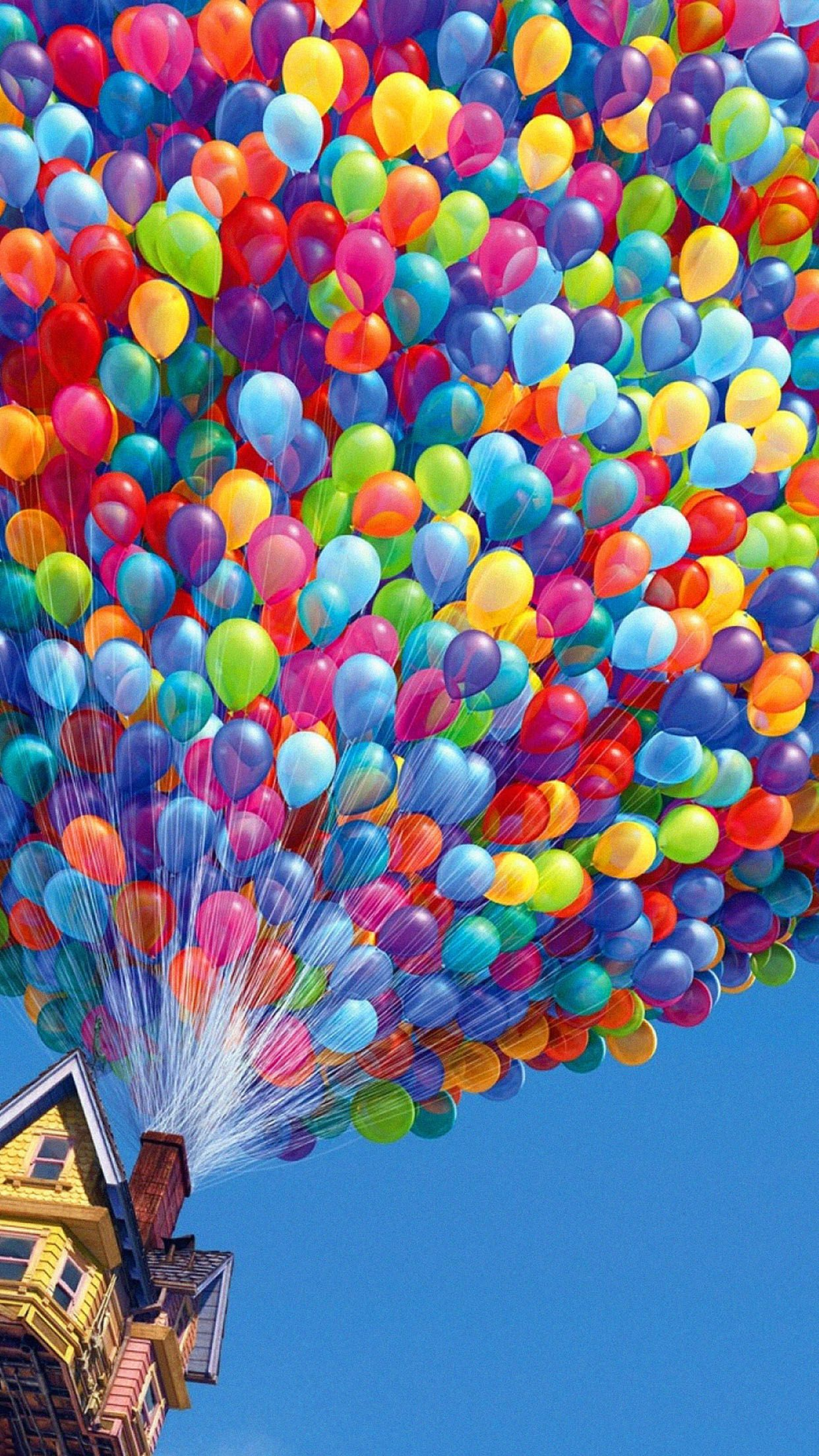colorful balloons house up movie android wallpaper art pinterest