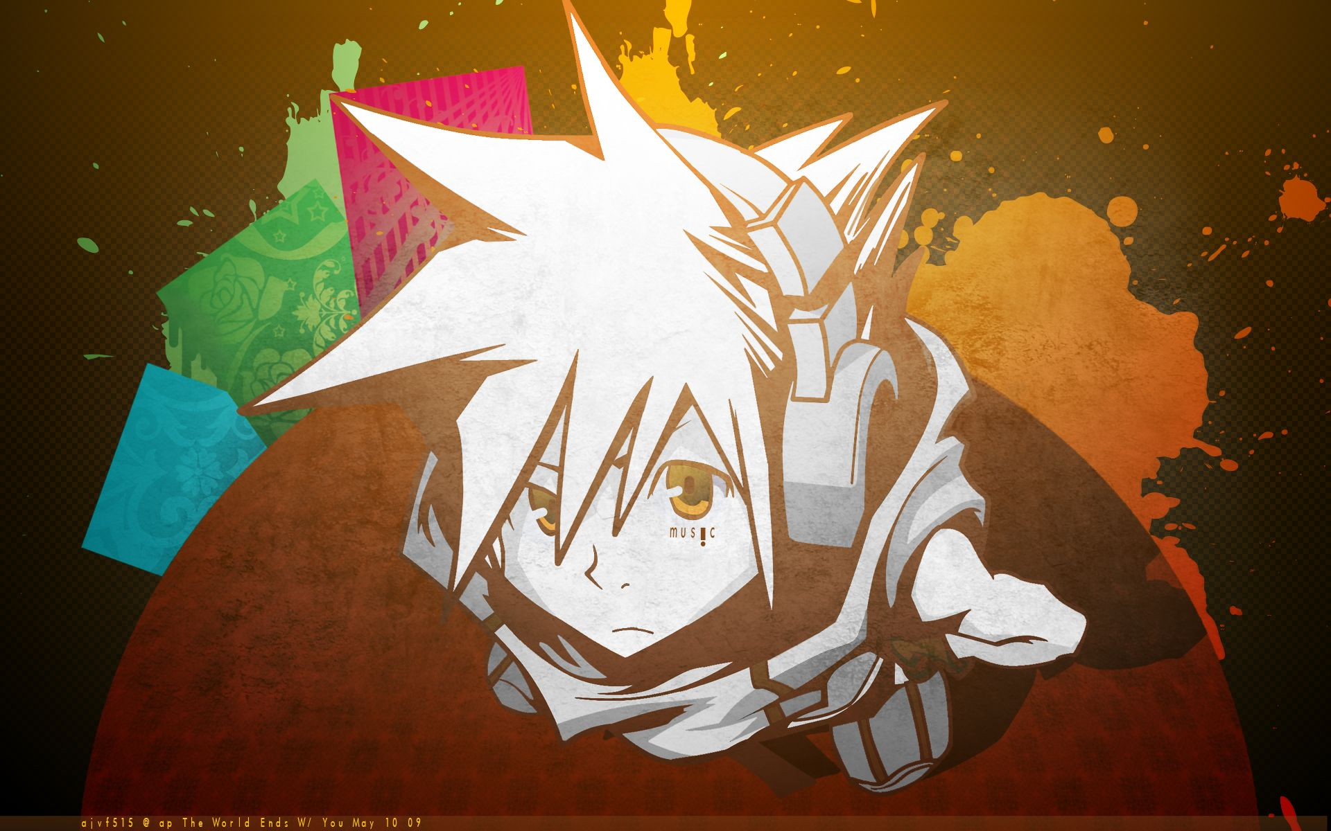 Anime the world ends with you wallpaper end of the world