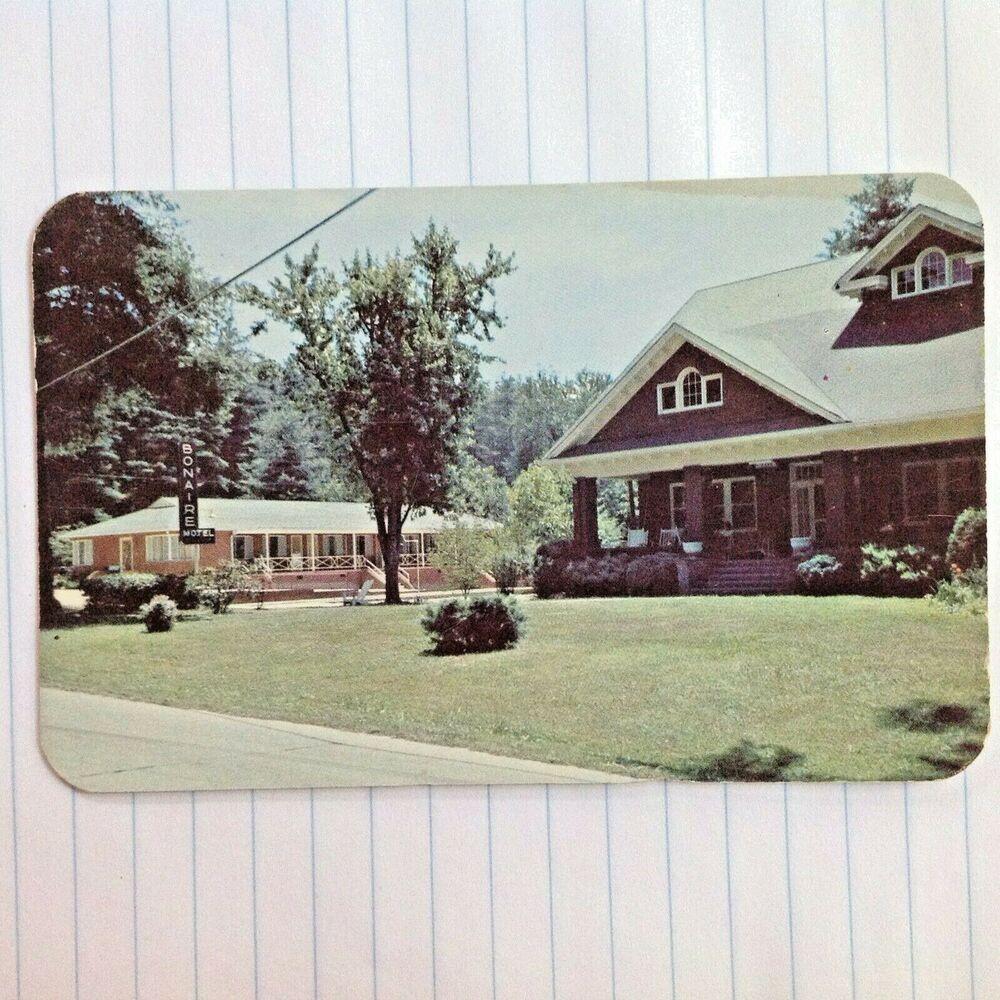 Details About Bonaire Motel And Inn Hendersonville North Carolina Bonaire Postcard Hendersonville