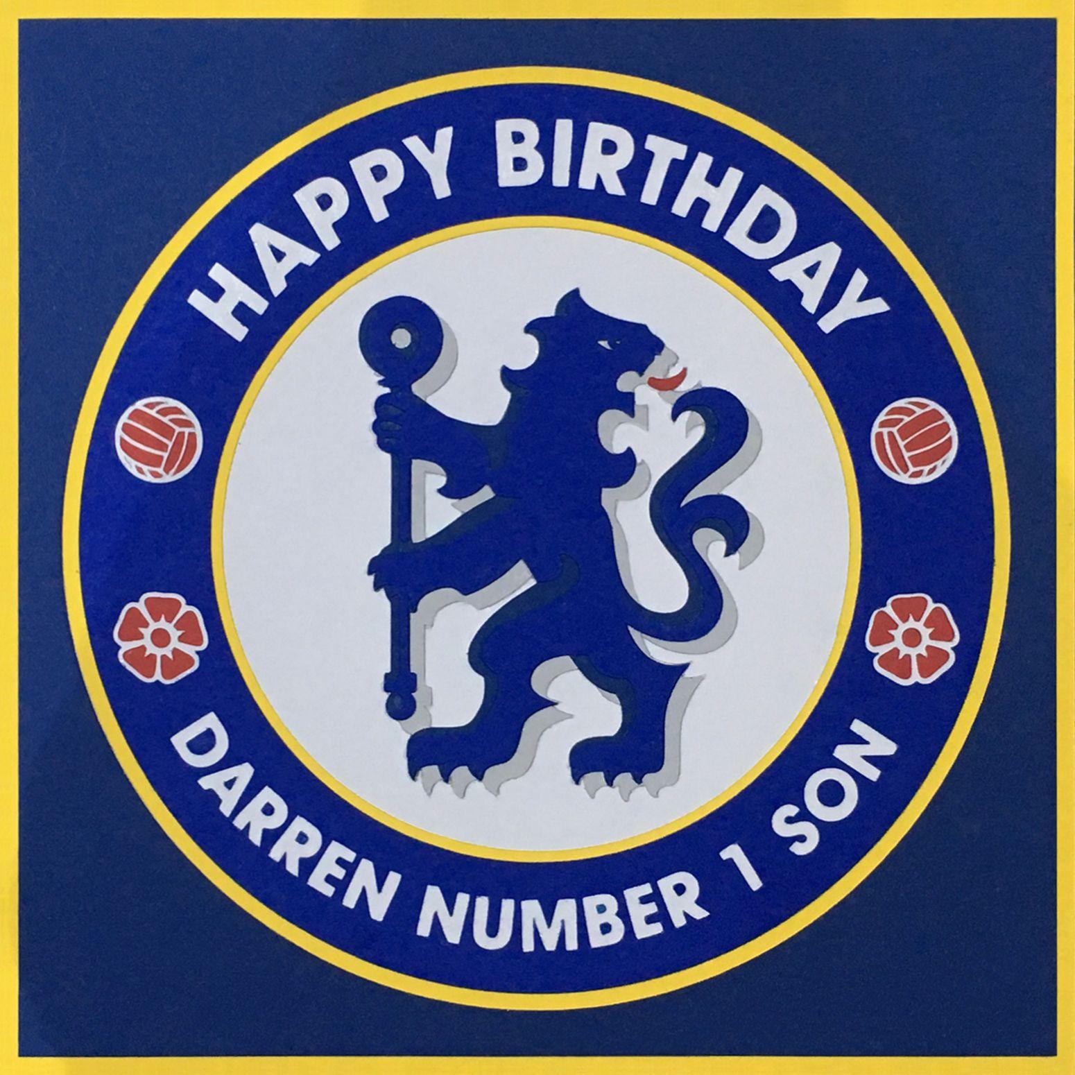 Handmade Chelsea Football Club Card Design Featuring Club Badge Club Card Chelsea Football Club Cards
