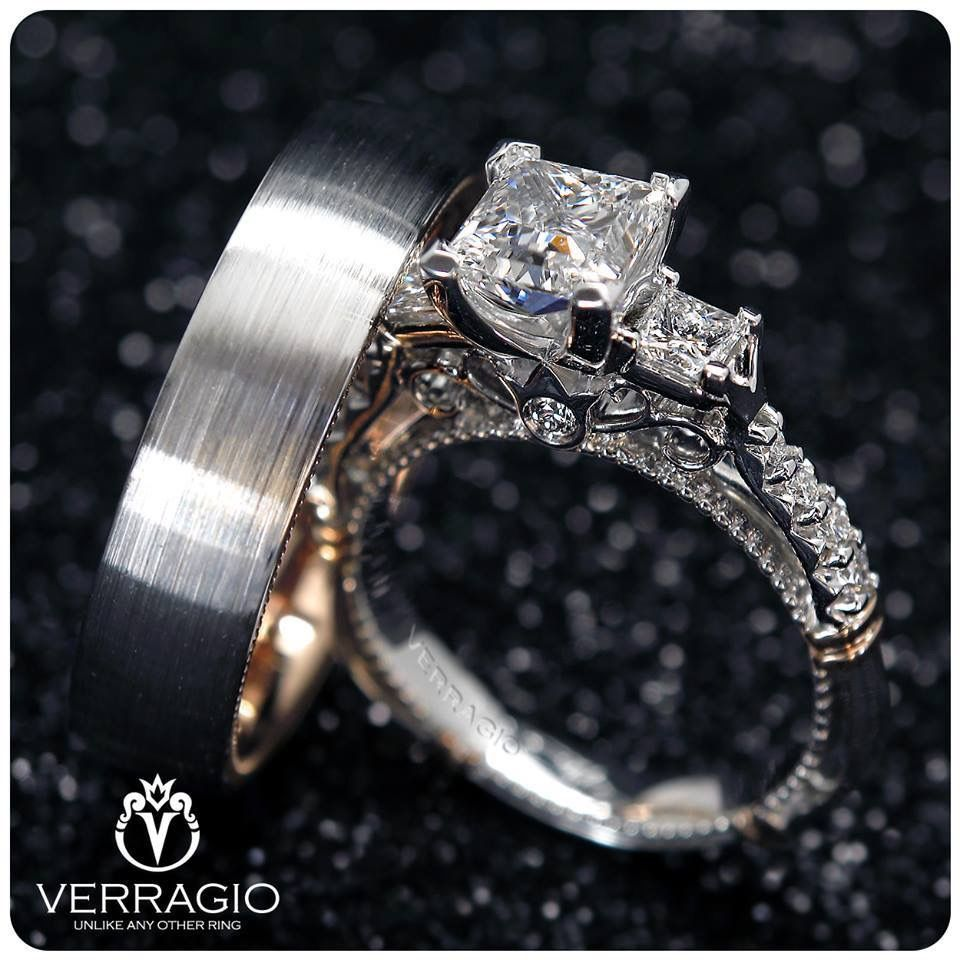 Verragio Engagement Rings And Wedding Bands Parisian 124p Vw6024 Verragio Engagement Rings Diamond Cluster Engagement Ring Rose Gold Engagement Ring