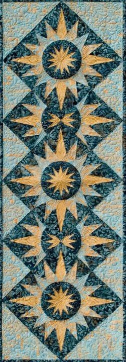 Cactus Table Runner ~ Light Blue