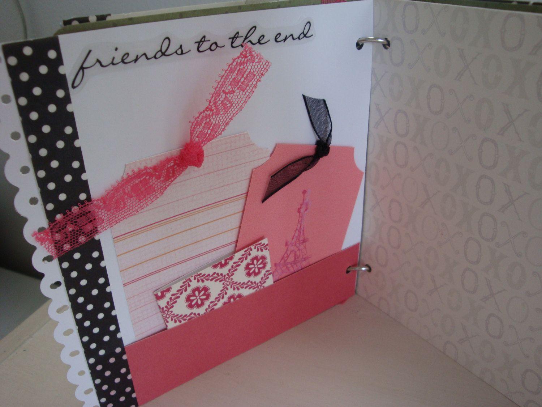 Best friend scrapbook ideas - Best Friends Scrapbook Girlfriends Scrapbook Friends Forever Photo Album Girl Scrapbook Best Friends Album