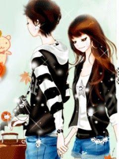 Cartoon Korean Couple Kawaii Kartun Gambar