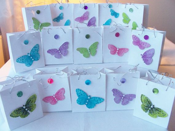 15 Butterfly Jewel Party Favours