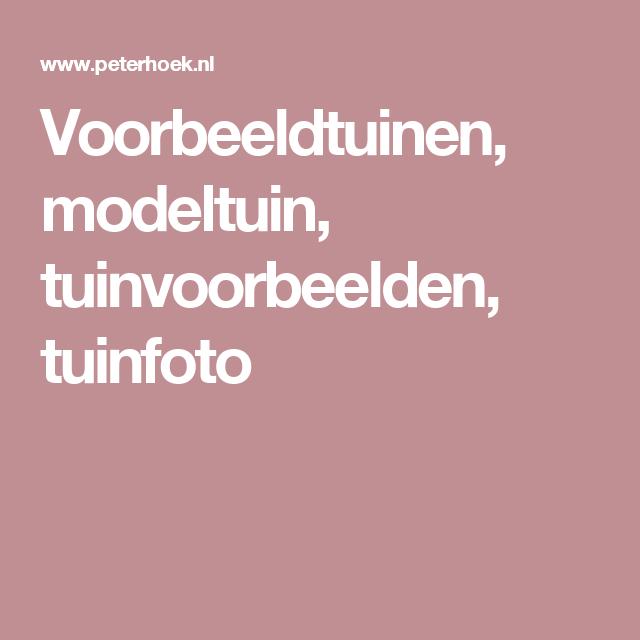 Voorbeeldtuinen, modeltuin, tuinvoorbeelden, tuinfoto