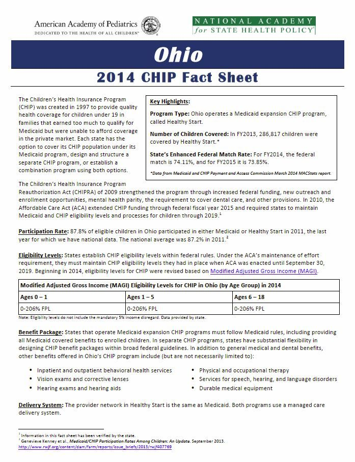 2014 Chip Fact Sheet Fact Sheet Childrens Health Health Policy