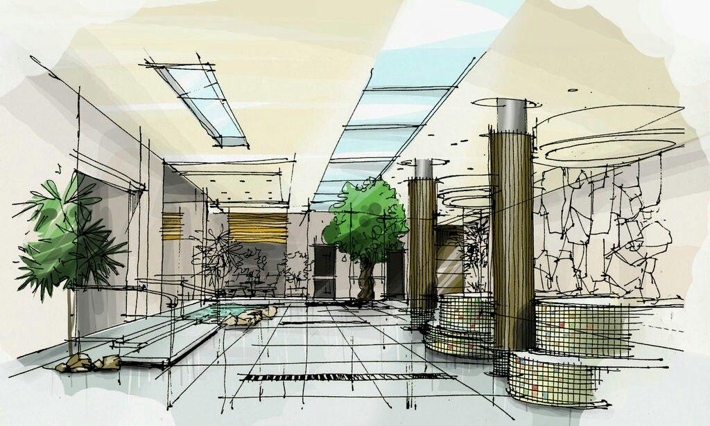 Explore Interior Design Sketches and more Recepcion