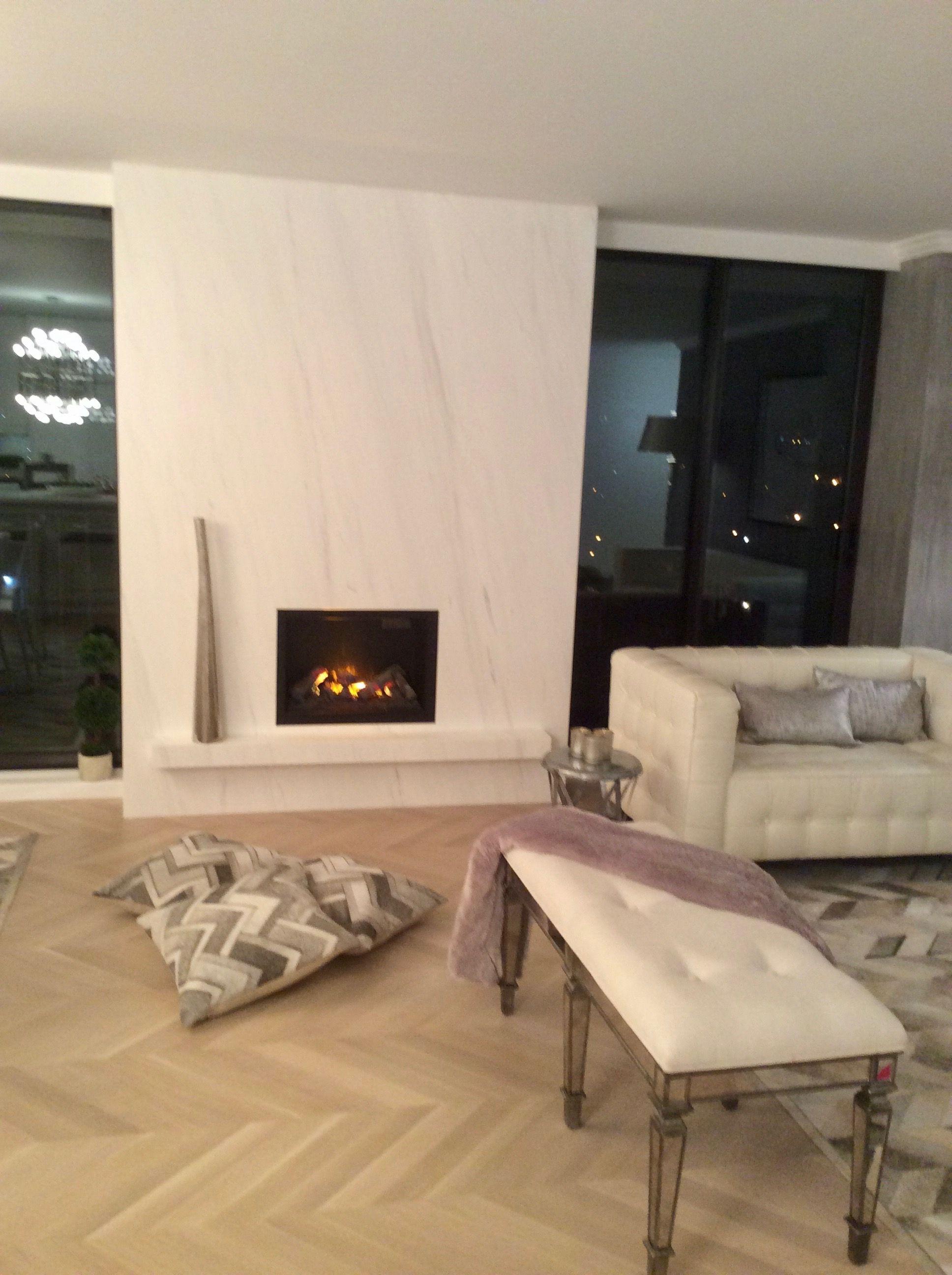 Modern White Marble Fireplace Dimplex Opti Myst Pro 400 Series