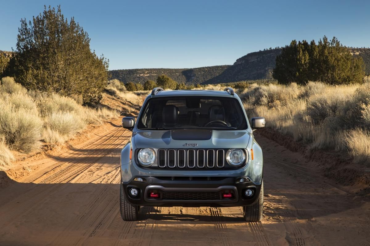 A lift off road suspension and hill descent control add to the all new 2015 jeep renegade trailhawk model s trail rated capability