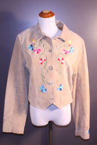 Cheyenne Outfitters embroidered suede jacket, ladies' size L, available at our eBay store! $45