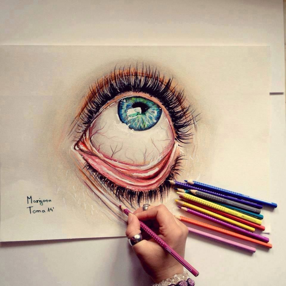 Amazing Eye Drawing Superb