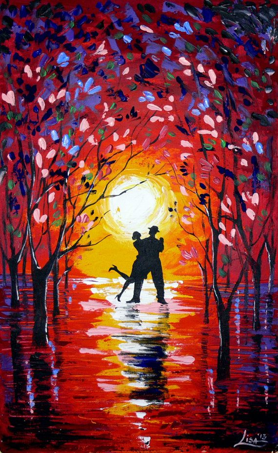 Original Abstract Painting Dancing Sunset 2 by ...
