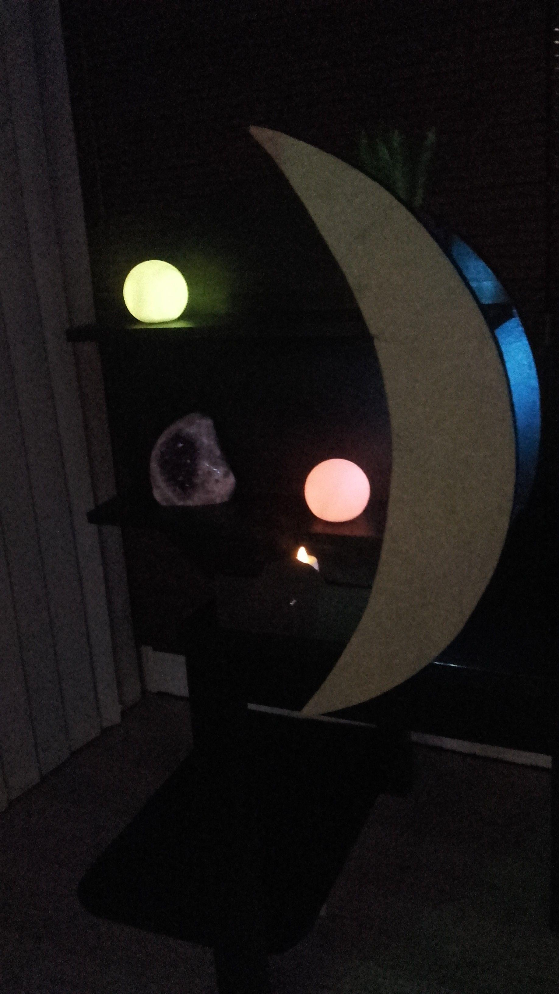 Etagère Murale éclipse Avec Luminaire Led Et Tiroir 60 Cm De