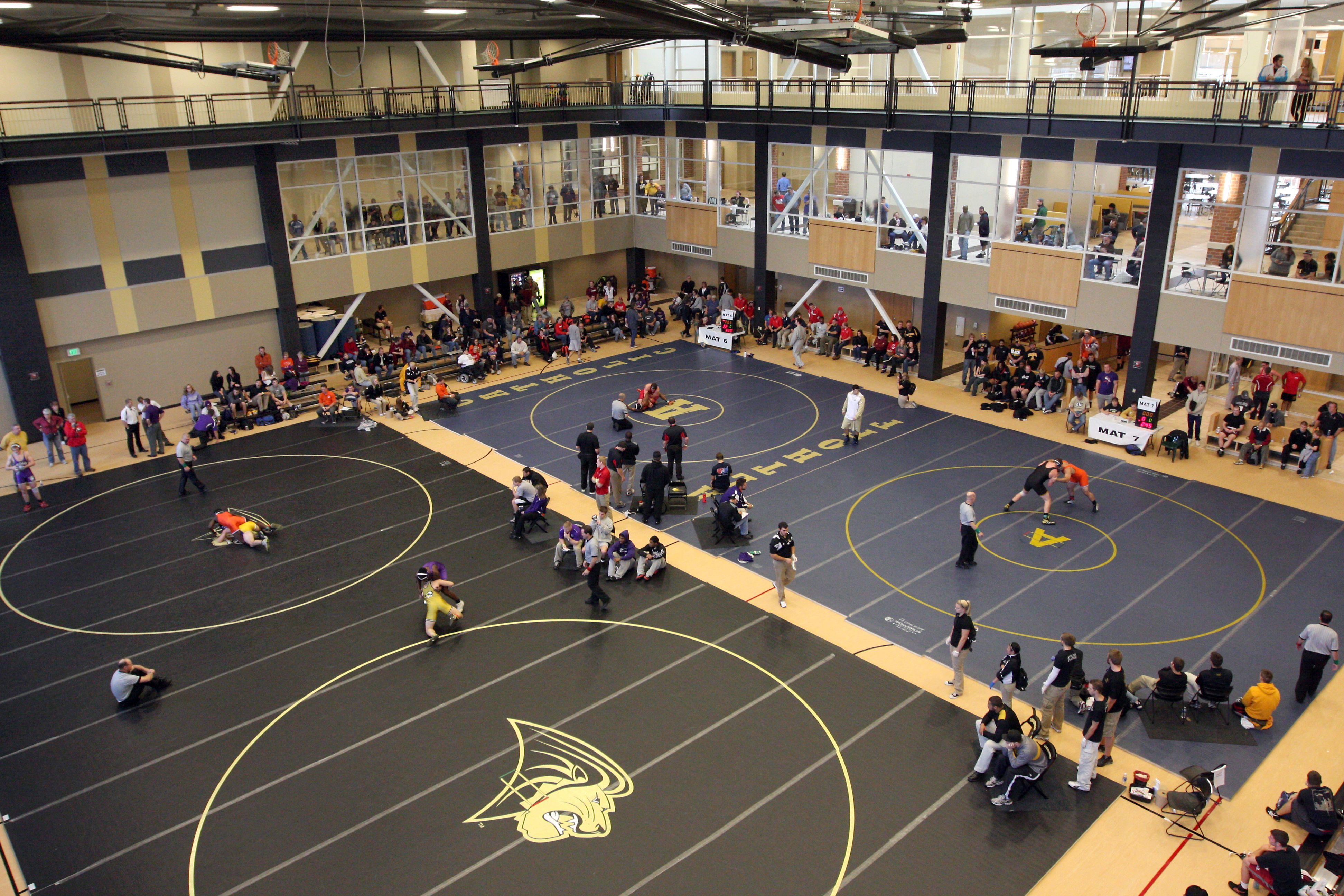 Overhead View Of The Men S Wrestling Tournament Www Lindenwood Edu Wrestling Tournaments Men S Wrestling Views