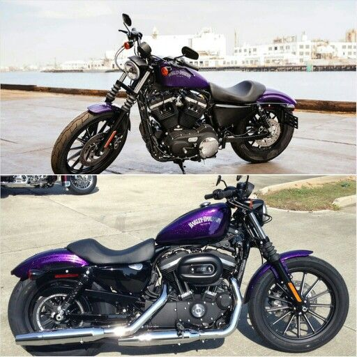 Purple Harley Sportster | Garage Daydreams | Harley davidson