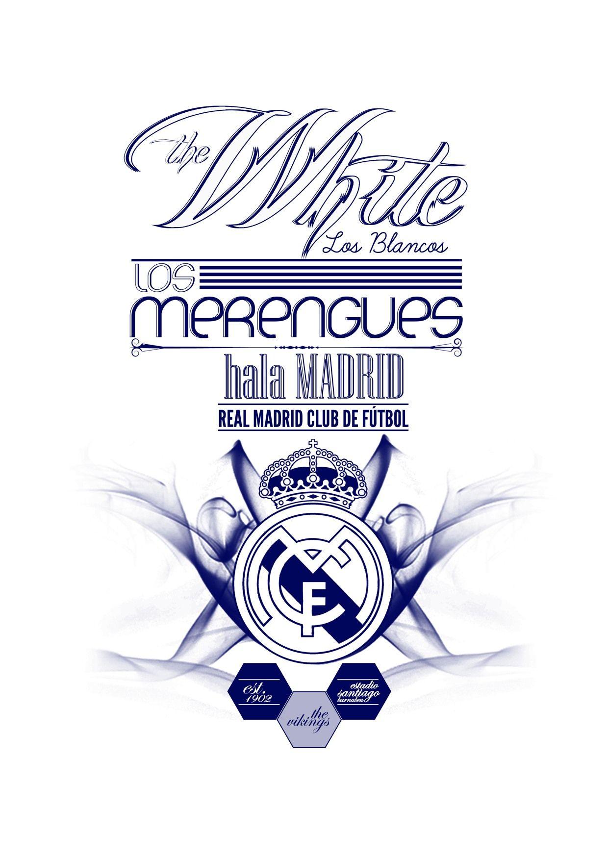 Football Team Typography Real Madrid Football Club Football Team Football