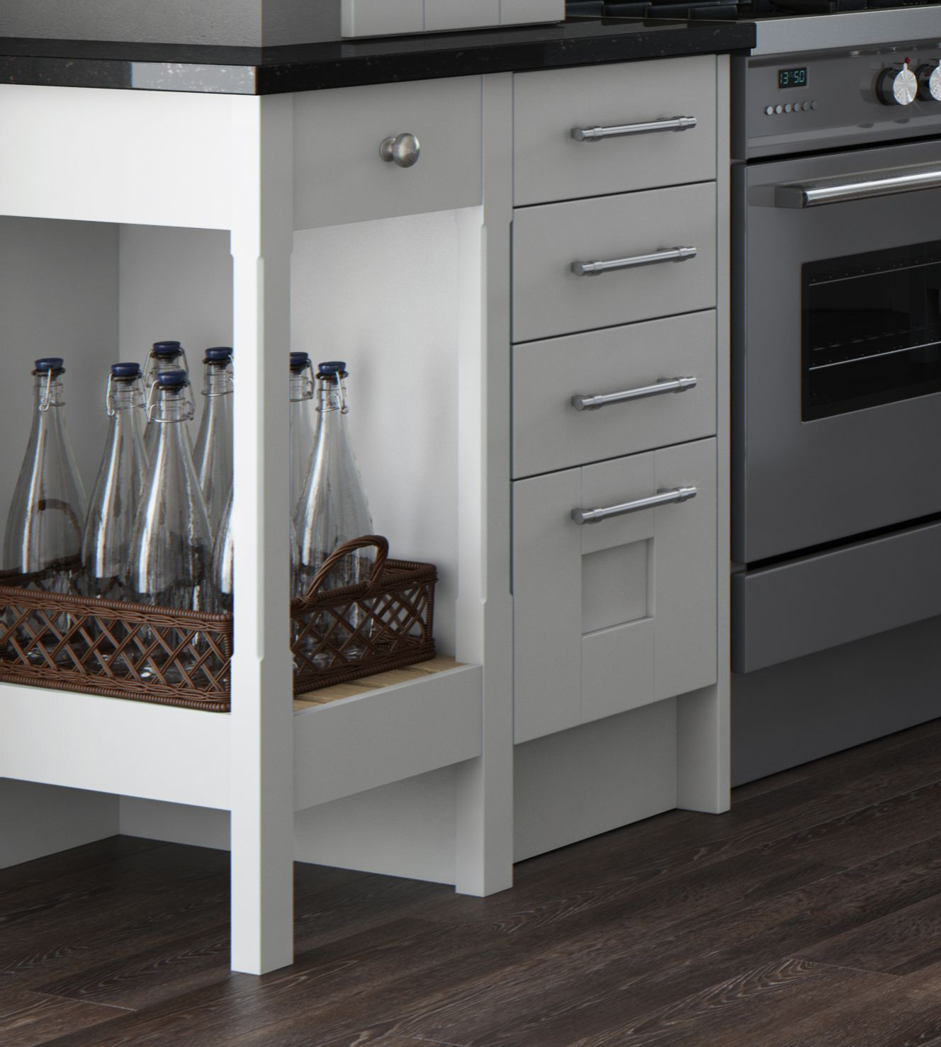 Feature Base End Shelf Mereway Kitchens Town Country  # Muebles Town And Country