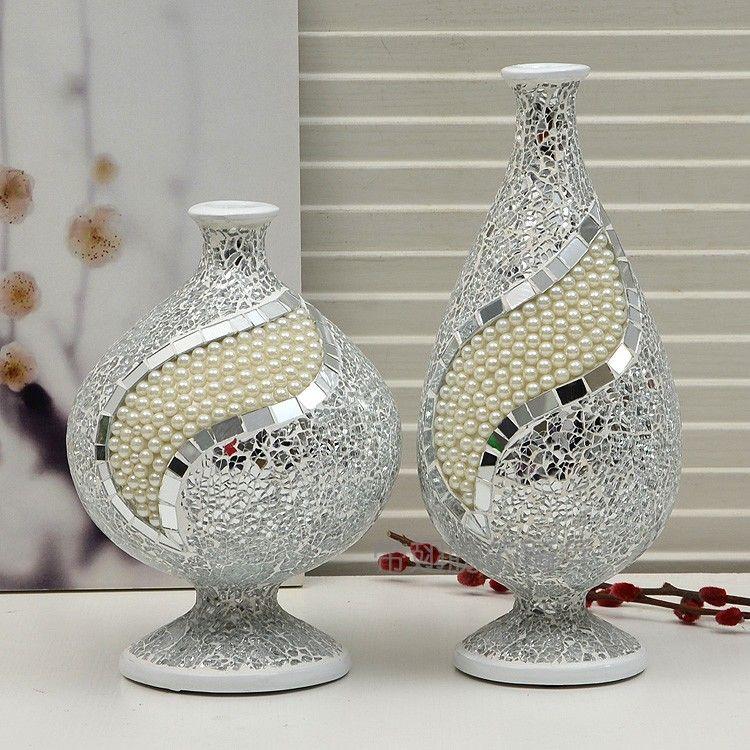 Resultado de imagen para jarrones de vidrio con mosaico - Decoracion de jarrones de cristal ...