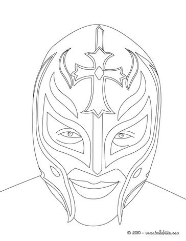 Wrestler Rey Misterio coloring page  Its a Party  Pinterest