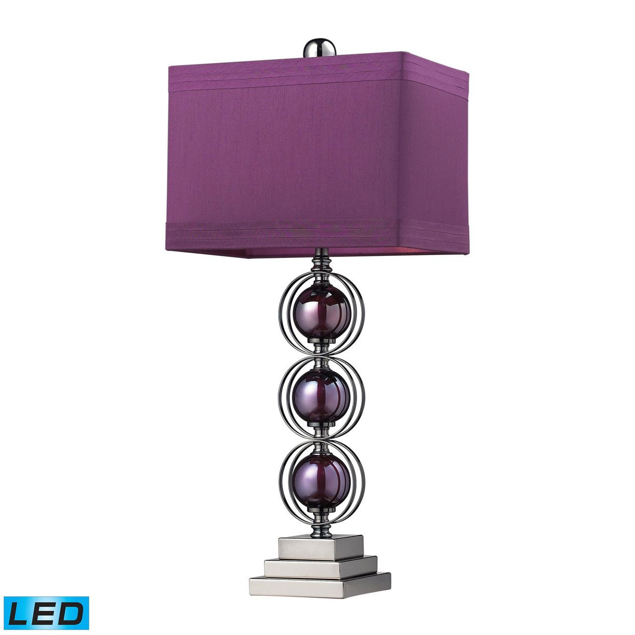 Bedside table lamps purple - Alva Contemporary Led Table Lamp In Black Nickel And Purple D2232 Led Purple Table Lampsbedroom