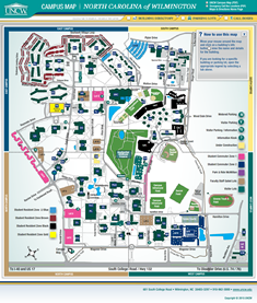 uncw campus map pdf Preview Of Interactive Uncw Campus Map Campus Map Maps And