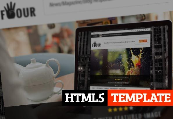 Four : Responsive Retina HTML News, Magazine, Blog #html5templates2014 #newstemplate #magazinetemplate #blogtemplates #responsivedesign