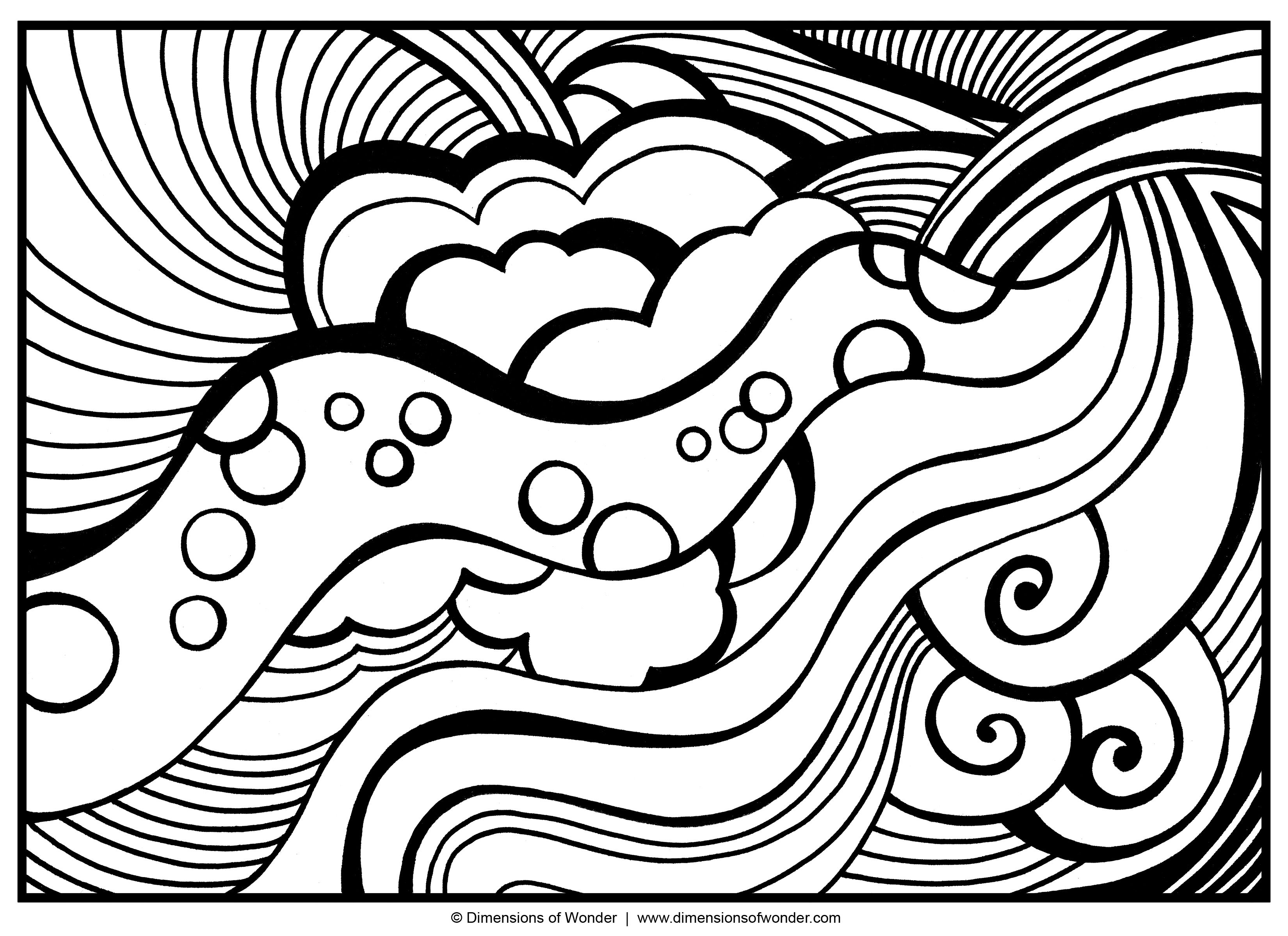Abstract coloring pages free large images recipes Easy coloring books for adults