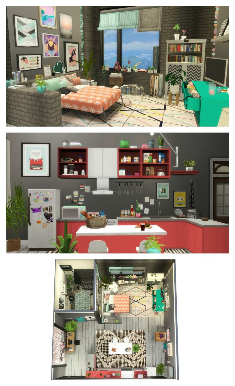 Tumblr Studio Apartment Sims 4 Decoration House Plans Building