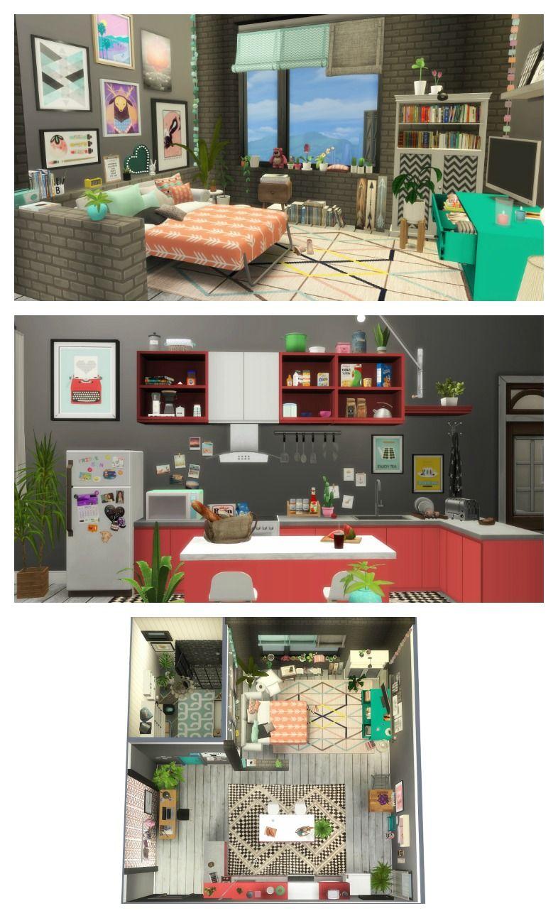 Tumblr studio apartment sims decoration also idee maison rh za pinterest
