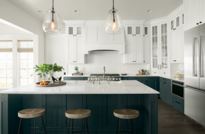 65 Beach Themed Kitchen Ideas For 2020 Two Tone Kitchen Cabinets
