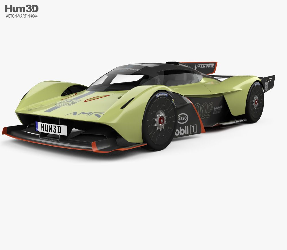 aston martin valkyrie amr pro 2020 3d model from hum3d. | aston