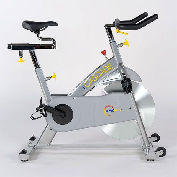 This CMXPro group exercise bike is low maintenance, commercial grade stationary bike built to last for years. Its smooth magnetic resistance system provide a exceptional indoor cycling experience. Because there are no friction parts the bike is extremely quiet and durable.