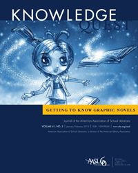 """January/February 2013 Knowledge Quest issue, """"Getting to Know Graphic Novels"""""""