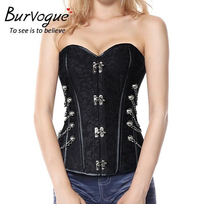 15cffc82b1 Burvogue Brand Women S Steampunk Corset Waist Control Steel Bone Busti –  FuzWeb