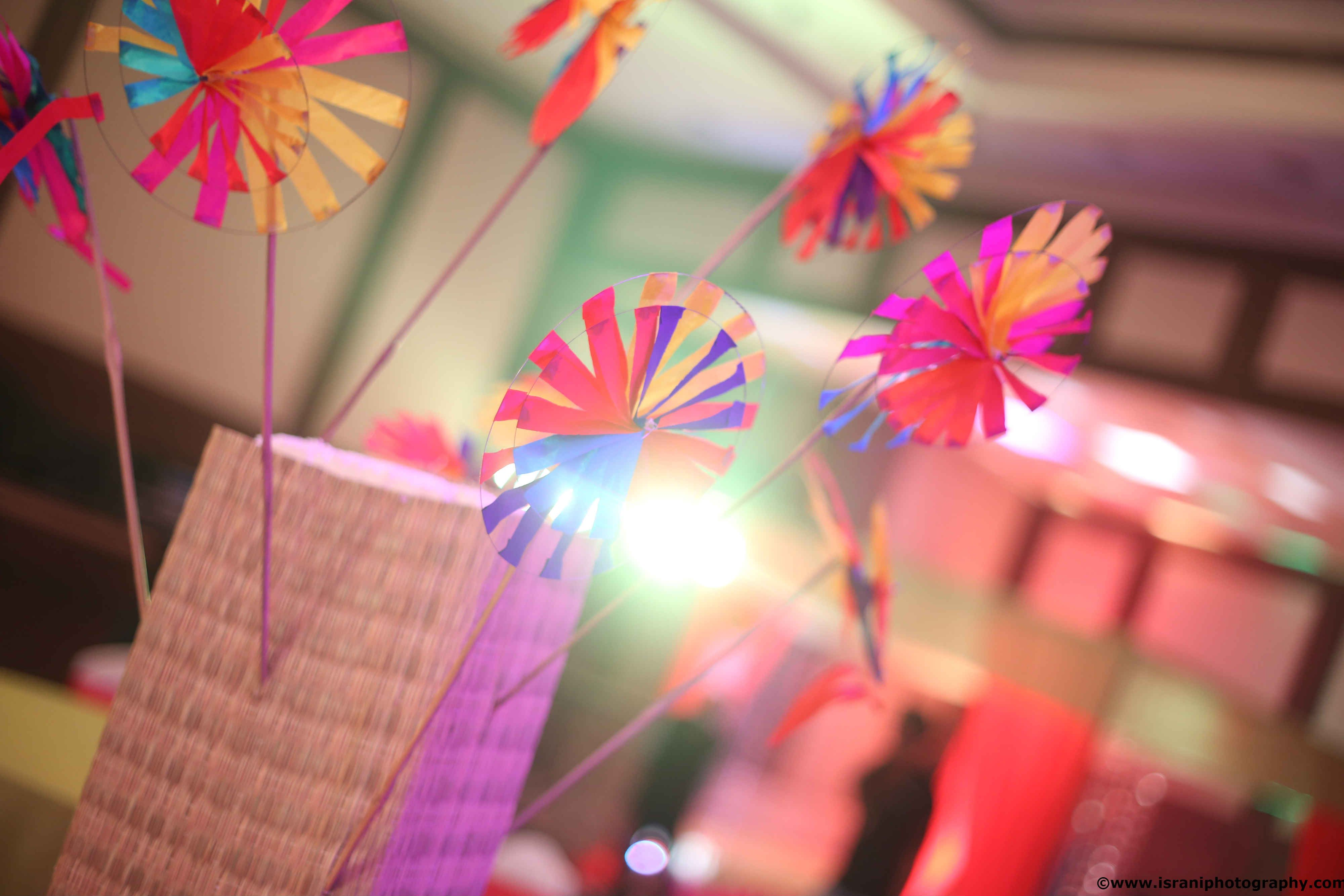 Creative paper windmills for decorations at every wedding