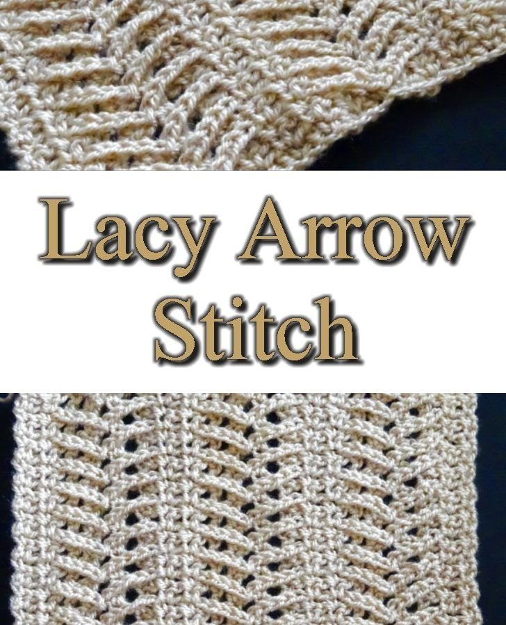 Lacy Arrow Crochet Stitch - Free Crochet Pattern and Tutorial ...