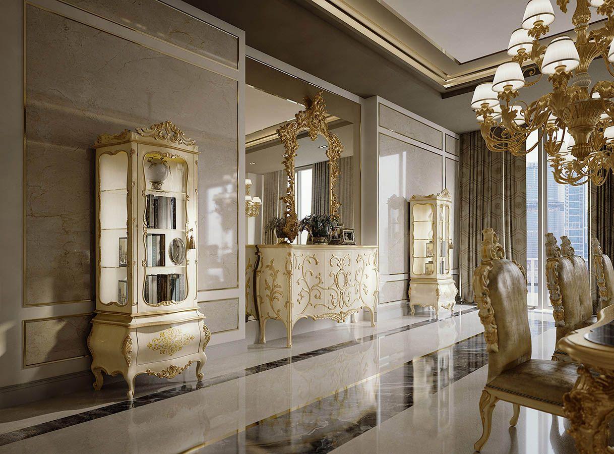 Lusso Mobili ~ Mobili per la zona giorno classica e di lusso in stile veneziano e